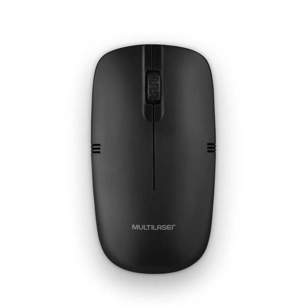 Mouse Multilaser Sem Fio MO285 Lite 2.4GHZ 1200 DPI USB Preto