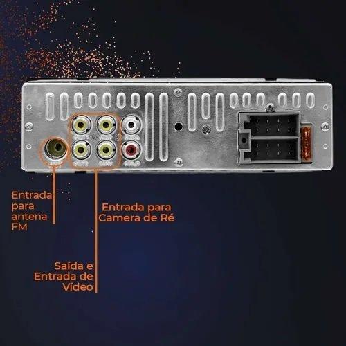 Som Automotivo Bluetooth Groove 4 pol MP5 4x45W FM/USB/AUX/SD P3341
