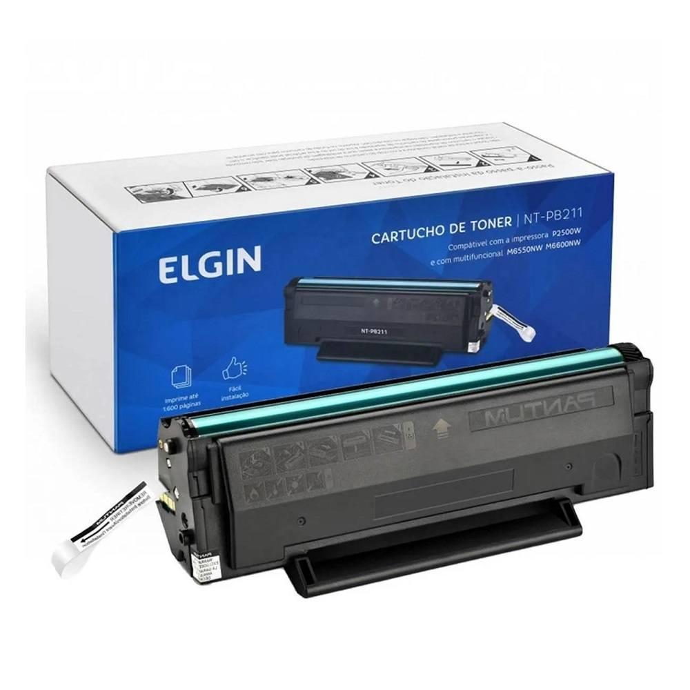 Toner Pantum PB 211 EV Impressoras Pantum P2500NW e M6550NW Preto - Elgin