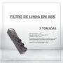 FILTRO DE LINHA EM ABS - 3 TOMADAS