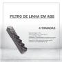 FILTRO DE LINHA EM ABS - 4 TOMADAS