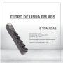 FILTRO DE LINHA EM ABS - 5 TOMADAS
