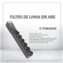 FILTRO DE LINHA EM ABS - 6 TOMADAS