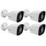 Kit 4 Câmeras de Segurança Motorola Bullet Metal 1080p Lente 2.8mm MTABM022601