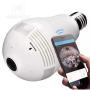 Lâmpada Câmera Wifi Panorâmica Inteligente IR Color 2.0 MP