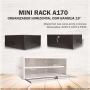 Mini Rack Organizador Horizontal A170 Com Bandeja 15' - Preto