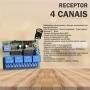 Receptor 4 Canais - 433 Code Learn  (MULTICODIGOS)