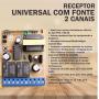 Receptor Universal Com Fonte 433,92 MHZ - 2 Canais