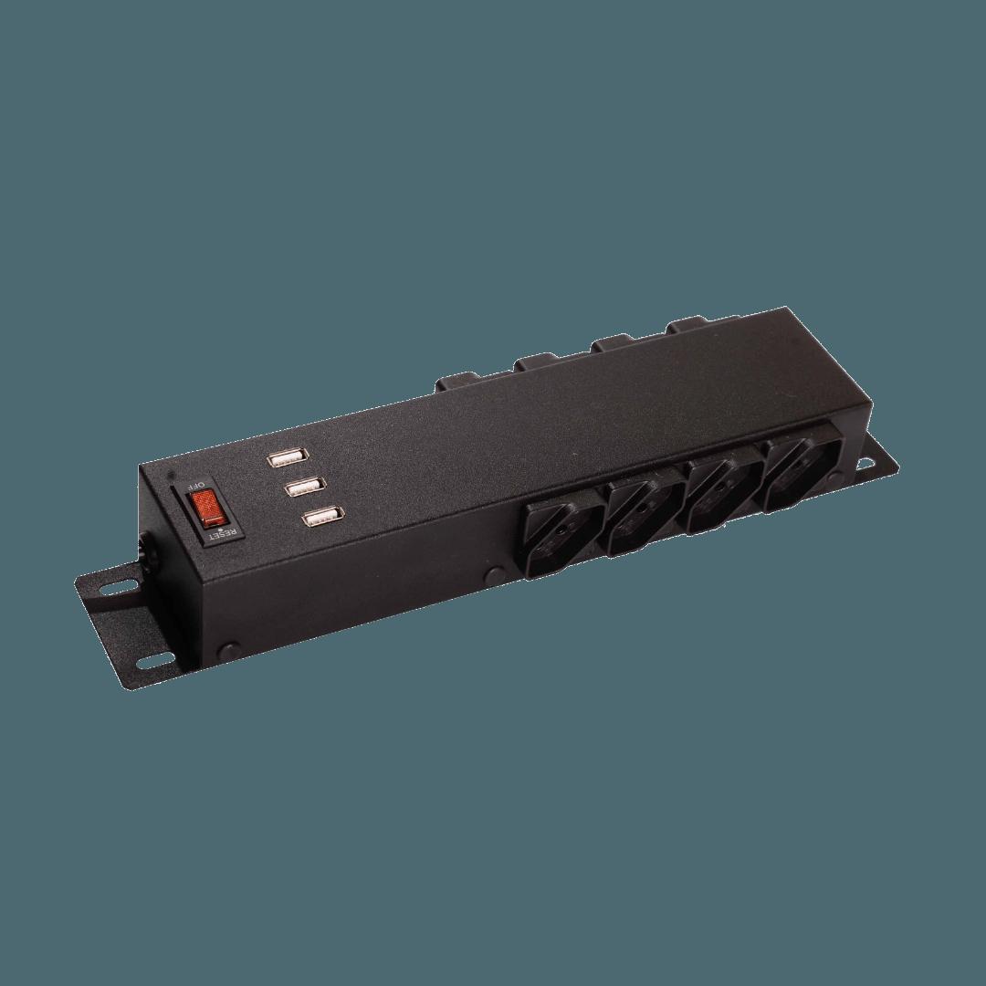 Filtro de Linha Com USB FL Power - Preto