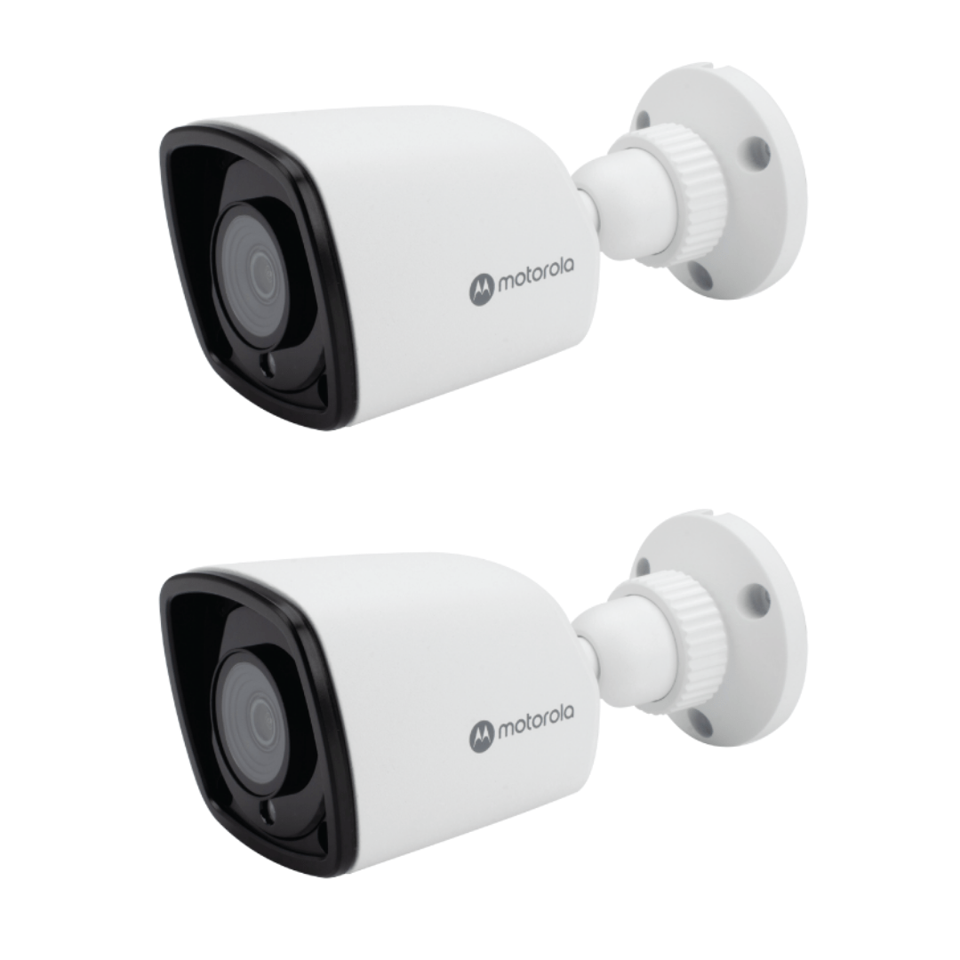 Kit 2 Câmeras de Segurança Motorola Bullet Metal 1080p Lente 2.8mm MTABM022601