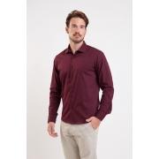 Camisa Slim Fit Easy Iron com Elastano   Cores