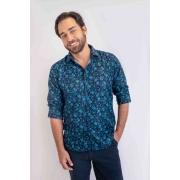 Camisa Floral Azul