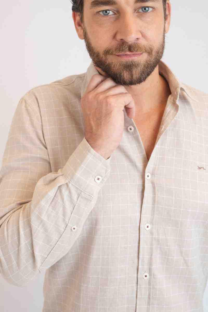 Camisa Linho Luxor Xadrez | Cores
