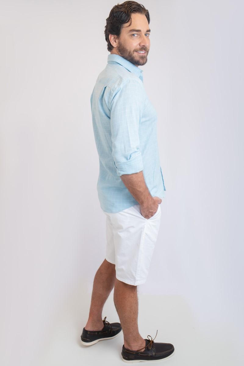 Camisa Linho Luxor Xadrez   Cores