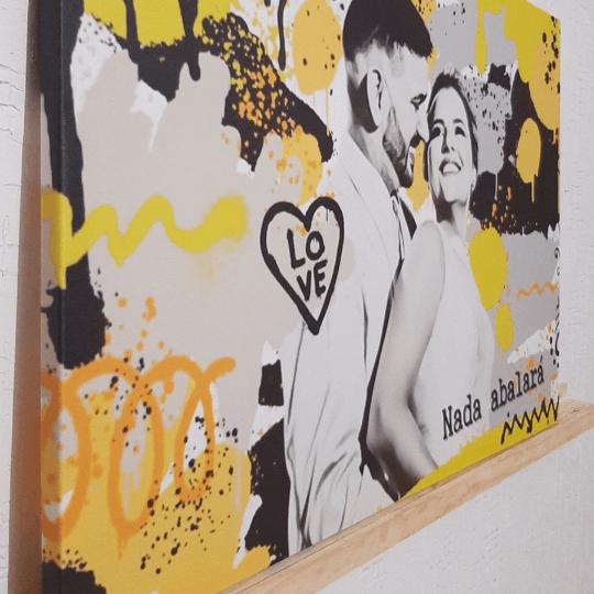Quadro Canvas modelo GRAFITE  - Zenliê