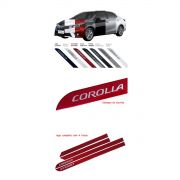 Jogo Friso Lateral Toyota Novo Corolla 2015/... Cor Original