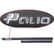 Kit Friso Lateral Novo Palio G5 2011/... Preto com Escrita