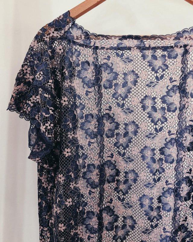 Kimono de renda da vovó Vanessa