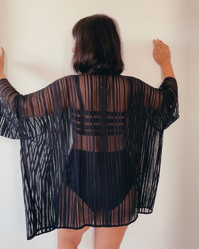 Kimono de renda vovó Juliana