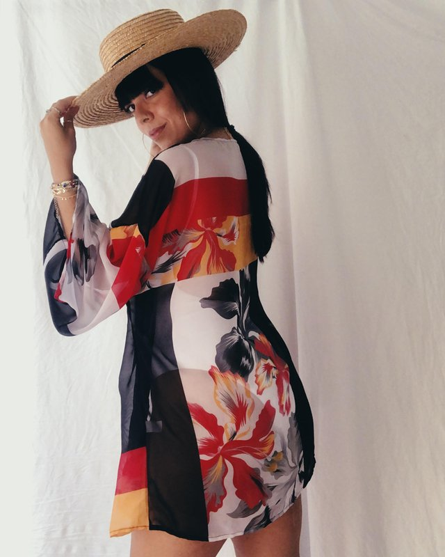 Kimono de tecido da vovó Carmelia