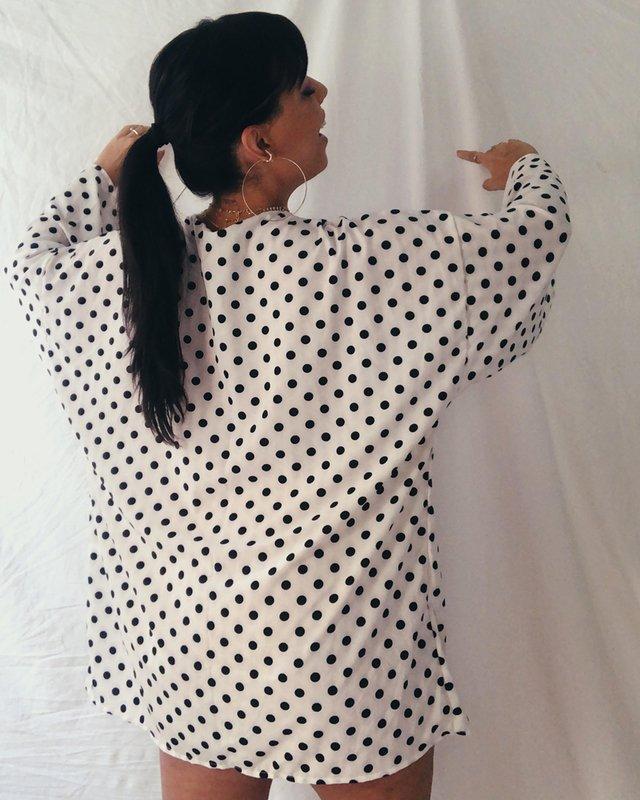 Kimono de tecido da vovó Guida