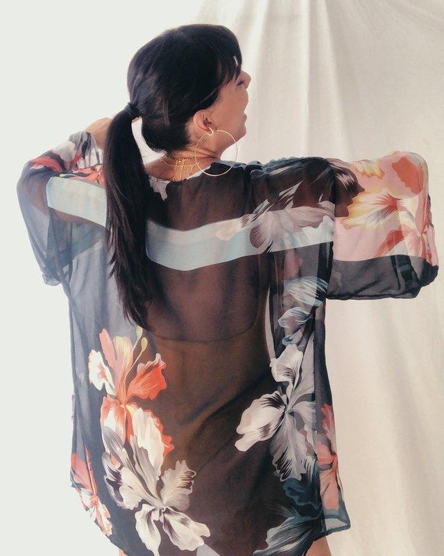Kimono de tecido da vovó Judite