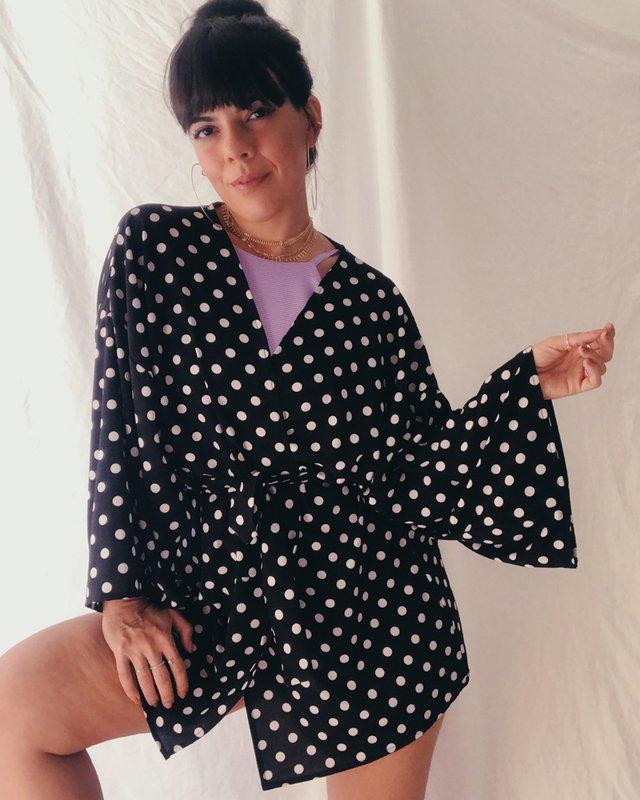 Kimono de tecido da vovó Valéria