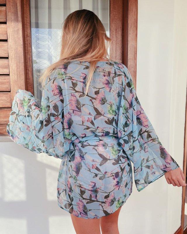 Kimono de tecido vovó Coen