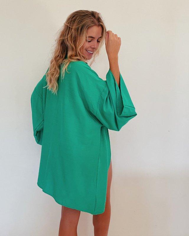 Kimono de tecido vovó Rox