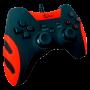 Controle Com Fio Para PC PS3 Tv Box Smash Vermelho FR-218 Feir