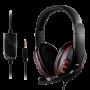 Headset Gamer Lehmox LEF-1020 P3 Vermelho - Xbox PS4 PS5 Celular