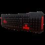 Teclado Gamer Multimidia Multilaser ABNT2 Vermelho - TC160