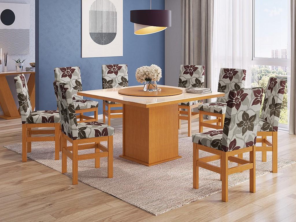 Cadeira Zamarchi R14 Canela/floral Claro