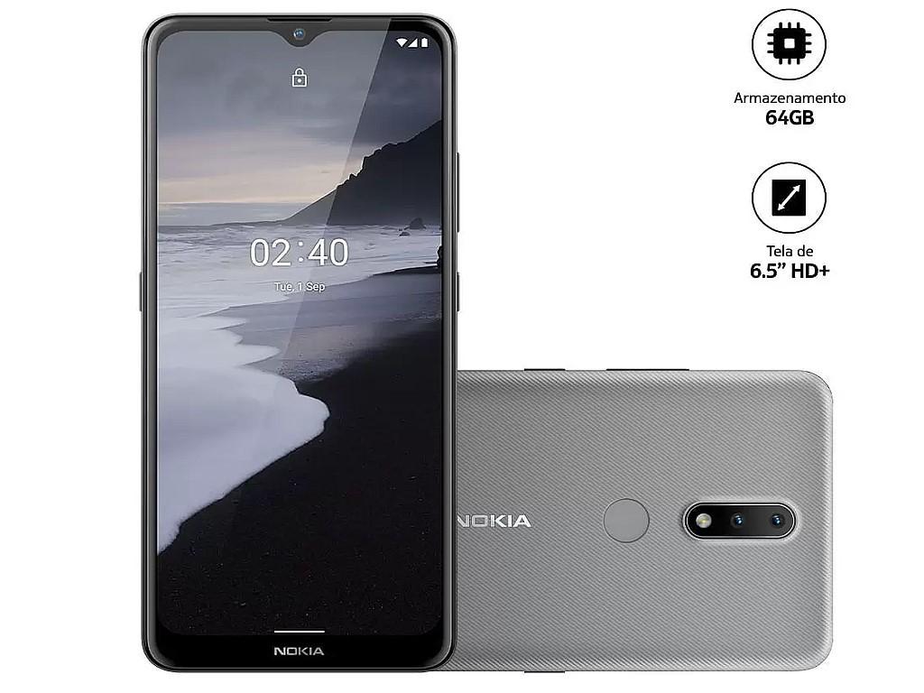 Celular Nokia 2.4 Nk015 64gb Cinza