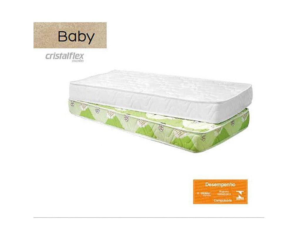 Colchao Cristalflex Baby 1.30x70x10 Branco