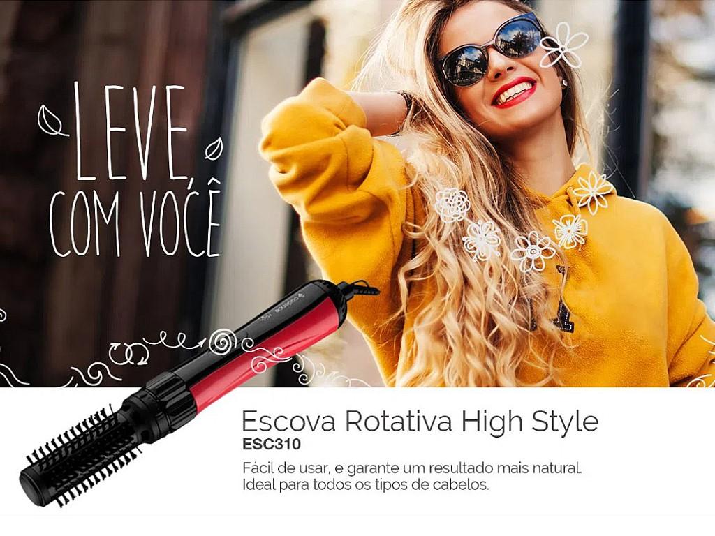 Escova Cadence Rotativa Esc310 High Style
