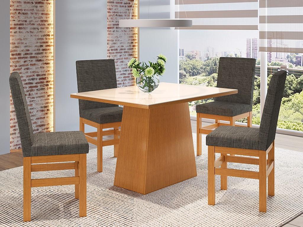 Mesa Cozinha Zamarchi 143 Canela/off White