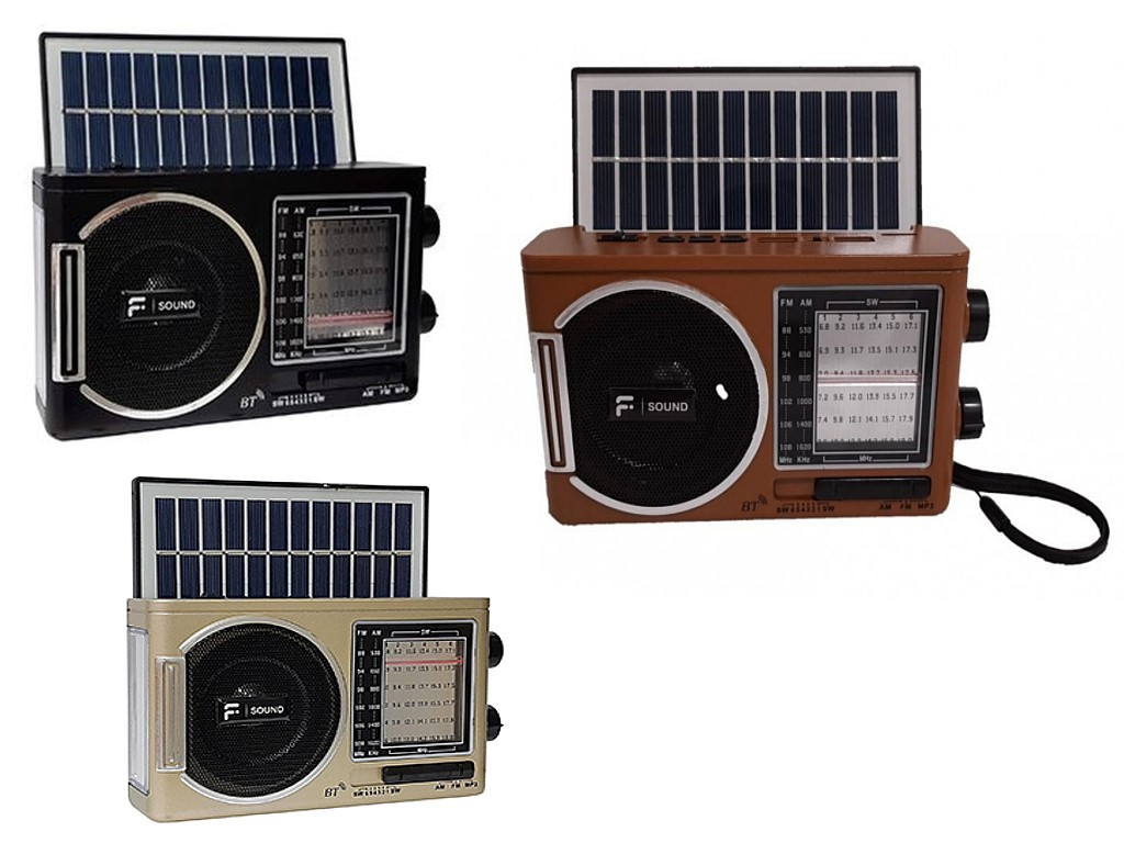 Radio Portatil Fsound Solar Fm/am/usb/sd/bater