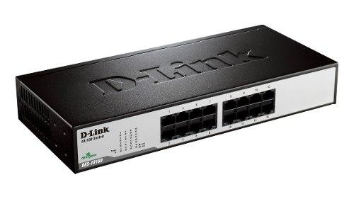 Switch 16 Portas 10/100 Mbps D-link Des-1016d C/ Nfe