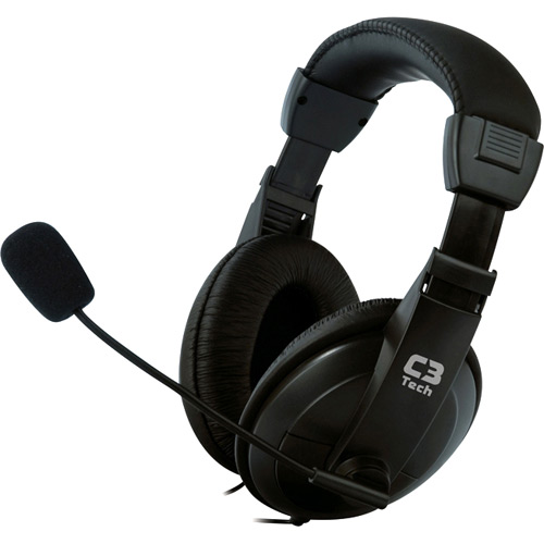 Headset com Mic Voicer Confort Preto C3 Tech