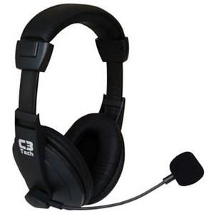 Headset com Mic Voicer Confort Preto C3 Tech