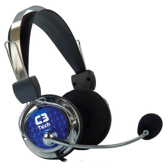 Fone de Ouvido Headset C3 Tech Gamer Tricerix - Preto