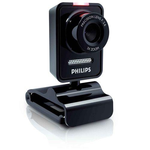 Webcam 1,3 MP SPC530NC/00 - Philips c/ Microfone Giro de 360 - Rastreio Automático Segue o Seu Rosto
