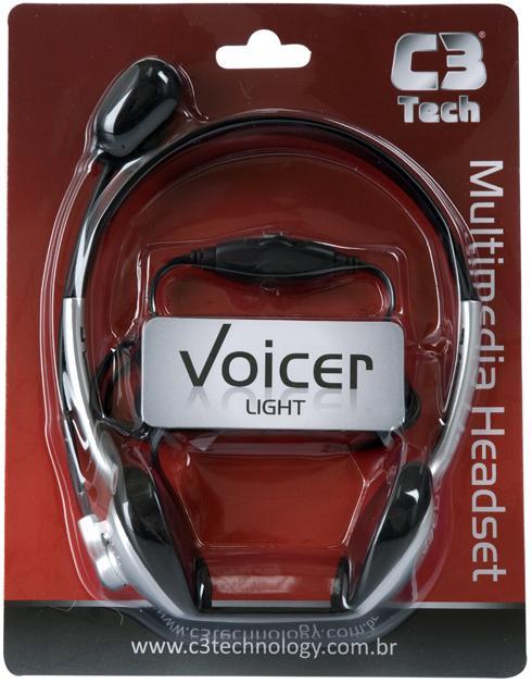 Fone de Ouvido Headset C3 Tech Voicer Light com Microfone e Controle de Volume