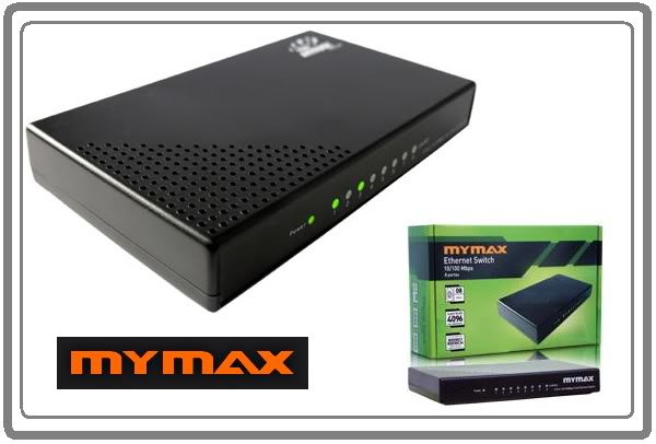 Ethernet Switch 10/100 Mbps 8 Portas - Mymax