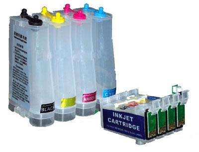 Bulk Ink para Impressora Epson TX200 / TX210 / TX300 / TX400 / TX410 com Botão Reseter