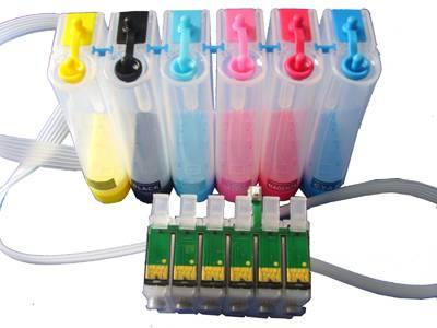 Bulk Ink para Impressora Epson T50 / T700w com Botão Reset