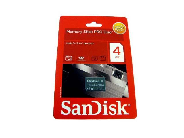Memory Stick Pro Duo 4GB - Sandisk