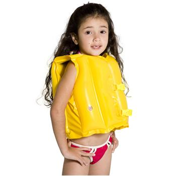 Colete Inflável Infantil Splash Fun Amarelo - MOR