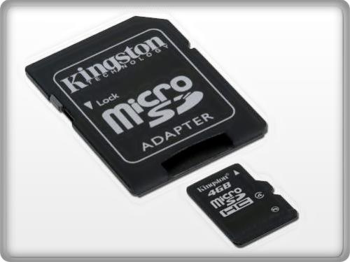 Cartão de Memória Micro SDhc 4GB com Adaptador SDhc Kingston